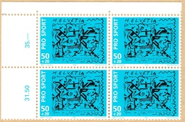 ** BLOC DE 4 NEUF 1992. C/.S.B.K. Nr:W73. Y&TELLIER Nr:1410. MICHEL Nr:1482. ** - Suisse