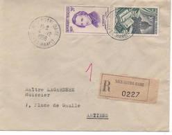 Lettre Recommandée Du 4 Décembre 1956 Avec N° 971 Et 1086, Au Tarif. - Brieven En Documenten