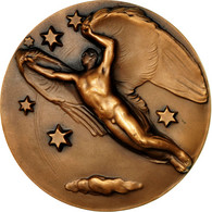 United Kingdom , Médaille, British Aerophilatelic Fédération, SPL, Bronze - Altri
