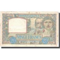 France, 20 Francs, 20 F 1939-1942 ''Science Et Travail'', 1941, 1941-06-11, TB+ - 1871-1952 Anciens Francs Circulés Au XXème