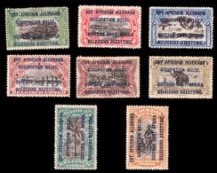Ruanda 0028/35* 1916 Surcharge Typo - Ruanda-Urundi