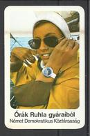 Germany D.R., Ruhla Watch, In Hungarian, 1977. - Calendars