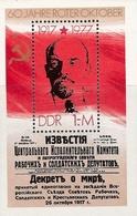 République Démocratique Allemande, Bloc Feuillet N°47, Anniversaire De La Révolution D'Octobre - [6] République Démocratique