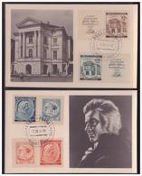 BM (003991) 2 Postkarten Engel SBj/ I+II 150. Todestag Von W.A.Mozart Mit Sonderstempel 80 Vom 5.12.1941 - Bohemia & Moravia