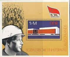 République Démocratique Allemande, Bloc Feuillet N°40, Congrès Du Parti Socialiste - [6] République Démocratique