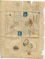 ORLEANS Retour Envoyeur 2740 Sur LAC De PARIS R DU PONT NEUF Reexpédiée à SAUMUR - 1849-1876: Klassik