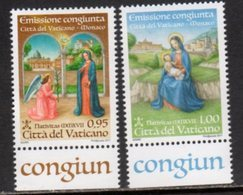 VATICAN, 2017, JOINT ISSUE WITH MONACO, 2v - Joint Issues