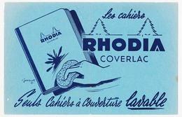 Buvard 20.9 X 13.4 Cahiers RHODIA  Coverlac Illustrateur R. Jacquet - Stationeries (flat Articles)