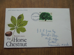 S051: FDC: THE HORSE CHESTNUT - BRITISH TREES. 10p. 27 FEB 1974 Manchester - FIRST DAY OF ISSUE. - FDC