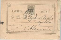 E.P  1883 MADRID A ALEMANIA - 1850-1931