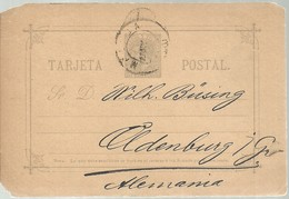 E.P  1883 MALAGA A ALEMANIA - 1850-1931