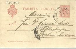 E.P  1912 SANT FELIU DE GUIXOLS A ALEMANIA - 1850-1931