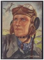 Dt-Reich (004006) Propagandakarte Farbige Gemäldekarte, Flieger Aus Dem WK II, Ungebraucht - Allemagne