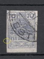 Estland Estonia 1919 Michel 11 ERROR Abart = Rahmen Geöffnet Links O - Estonie