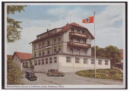 Dt-Reich (004009) Propagandakarte Bahnhof Hotel Gaststätte, Femdenheim, Murnau A. Staffelsee, Bayer. Hochland, 700m, Ung - Briefe U. Dokumente