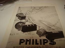 ANCIENNE PUBLICITE  HAUT PARLEUR DE  PHILIPS 1930 - Music & Instruments
