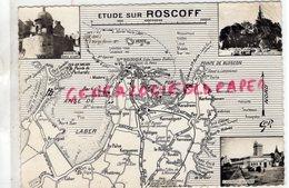 29 - ROSCOFF -  ETUDE CARTE GEOGRAPHIQUE -PLACE EGLISE-AQUARIUM CH. PEREZ  1960 - Roscoff