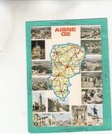 02 AISNE ST QUENTIN CHAUNY GUISE VERVINS SOISSONS HIRSON SISSONS LE FERE  CARTE DEPARTEMENT EDITION COMBIER - Other Municipalities