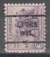 USA Precancel Vorausentwertung Preo, Locals Wisconsin, Lyons 713 - Vereinigte Staaten