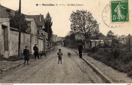 SARCELLES  La Rue Carnot.  Carte écrite En 1913   2 Scans - Sarcelles