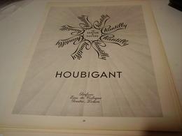 ANCIENNE PUBLICITE PARFUM  DE HOUBIGANT 1952 - Parfums & Beauté