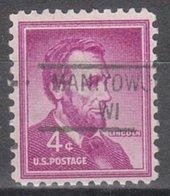 USA Precancel Vorausentwertung Preo, Locals Wisconsin, Manitowoc 841 - Vereinigte Staaten