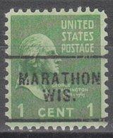 USA Precancel Vorausentwertung Preo, Locals Wisconsin, Marathon 703 - Vereinigte Staaten