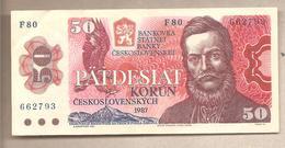 Cecoslovacchia - Banconota Circolata Da 50 Corone P-96a - 1987 - Cecoslovacchia