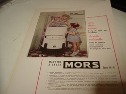 ANCIENNE PUBLICITE LAVE LINGE MORS   1950 - Advertising