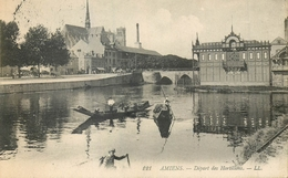 80 AMIENS DEPART DES HORTILLONS BARQUES - AA 706 - Amiens