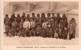 CPSM, Missions Esquimaudes, Esquimeaux De Chesterfield Le Jour De Pâques, Très Animée - Missions