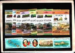 73297)  SANTA LUCIA-LOTTO FRANCOBOLLI -MNH** - St.Lucia (1979-...)