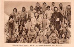 CPSM, Missions Esquimaudes, Les Chrétiens De Chesterfield Et Leurs Missionnaires, Animée - Missions