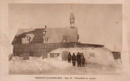 CPSM, Missions Esquimaudes, Chesterfield En Janvier, L'Eglise, Animée - Missions