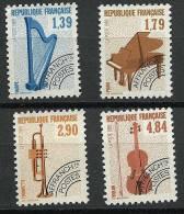 """FR Préo YT 202 à 205 """" Instruments De Musique 1ere Série """" 1989 Neuf** - Precancels"""