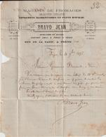 Var LAC Fromages Bravo Jean 25c Sage Convoyeur Station Fréjus MENT. M 1876 - Postmark Collection (Covers)