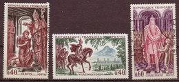 FRANCE - 1966 - YT N° 1495 /1497 - Oblitérés - Grands Noms De L'Histoire - Série Complète - France