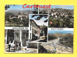 CPSM 06 GATTIERES Souvenir De ( Multivues Ane Enfant Fontaine ) - Greetings From...