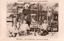CPSM, Soeurs Saint Joseph De L'Apparition, Mandalay-les Orphelins à L'atelier De Tissage - Missions