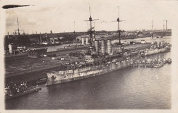 """Alte Ansichtskarte Des Minensuchschiffs """"Preussen"""" Im Hafen Von Wilhelmshaven - Guerra"""
