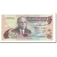 Billet, Tunisie, 5 Dinars, 1973, 1973-10-15, KM:71, TTB+ - Tunisie