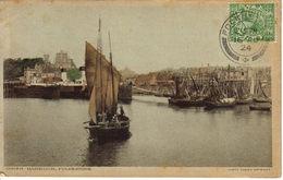 RU Angleterre England Kent Folkestone Inner Harbour Port Bateaux En 1924 Voilier De Pêche - Folkestone