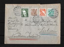 MISCHFRANKATUR → BrIef Zürich Nach Lisburn Nordirland 1946 - Suisse