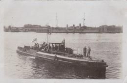 """Alte Ansichtskarte Des U-Boot-Zerstöreres UZ 14 In Wilhelmshaven, Im Hintergrund Liegt Die """"Preussen"""" - Guerre"""