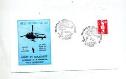 Lettre Cachet Lutterbach Heli-secours Theme Helicoptere - Marcophilie (Lettres)