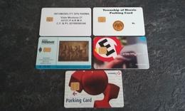 PETIT LOT 5 CARTES A PUCE STATIONNEMENT PARKING DIVERS PAYS T.B.E !!! - France