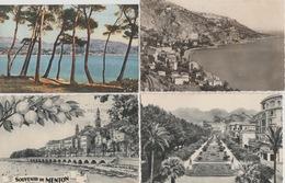 18/11/66 -  LOT  DE. 11  CP   CPSM  DE  MENTON  ( 06 ) - Toutes Scanées - Cartes Postales