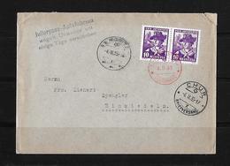 HEIMAT GRAUBÜNDEN →  Brief St.Moritz Nach Chur 1935 ►Zustellung Wegen Unwetter Einige Tage Verschoben◄ - Lettres & Documents