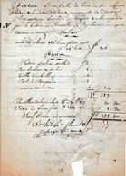 1803 - ORTHEZ - Connaissement Manuscrit Pour Une Balle De Laine Pour BAYONNE - Historical Documents