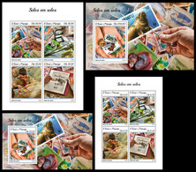 S. TOME & PRINCIPE 2018 - Stamps On Stamps. Complete Set. Official Issue - Stamps On Stamps